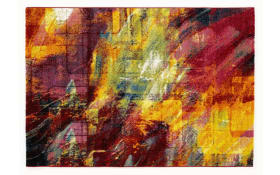 Teppich Happiness New Brush in multicolor, 65 x 130 cm