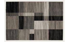 Teppich First Block in grau-mix, 65 x 130 cm