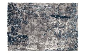 Teppich Juwel Liray in grau-petrol, 65 x 130 cm