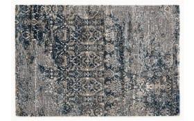 Teppich Juwel Silenta in grau-petrol, 65 x 130 cm