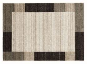 Teppich Easy Border in beige-braun, 65 x 130 cm