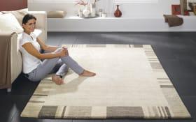 Teppich Natura Line Mankala in beige, 70 x 140 cm