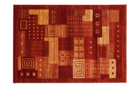 Teppich Monte Design in kupfer, 65 x 130 cm