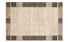 Teppich Natura Wool Border in natur, 65 x 130 cm