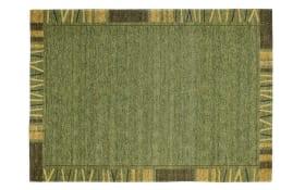 Teppich Alanis Border in grün, 70 x 140 cm