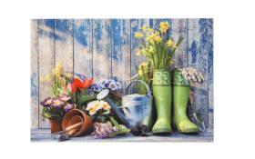 Türmatte mit Gartentool-Motiv, 40 x 60 cm