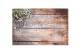 Türmatte mit Lavendel Welcome-Motiv, 40 x 60 cm