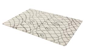 Webteppich Rivoli in grau, 80 x 150 cm