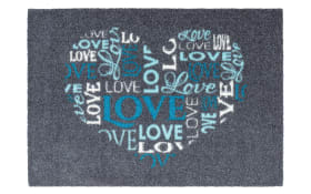 Türmatte Felicido Love in blau, 50 x 70 cm