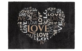 Türmatte Felicido Love in beige, 50 x 70 cm