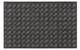 Teppich Lavandou in schwarz-braun, 70 x 110 cm