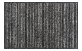 Teppich Lavandou in schwarz-grau, 70 x 110 cm
