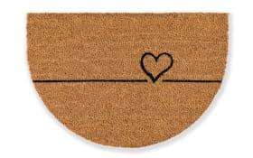 Türmatte Coco Smart halbrund Herz, 40 x 60 cm