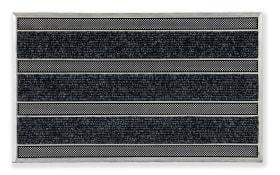 Türmatte Rubber Pin in schwarz, 45 x 75 cm