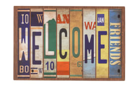 Türmatte Eco Living Welcome in bunt, 40 x 60 cm
