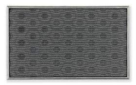 Türmatte Honeycomb in grau, 45 x 75 cm