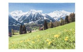 Fußmatte mit Alpen-Motiv , 50 x 70 cm