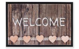 Fußmatte Print Welcome in braun, 40 x 60 cm