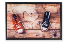 Fußmatte Print Schuhe in bunt, 40 x 60 cm