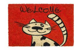 Fußmatte Coco Style mit Katzen-Motiv, 40 x 60 cm