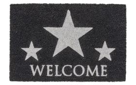 Fußmatte Coco Glitter - Welcome Star mit Glitzereffekt, 40 x 60 cm