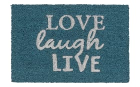 Fußmatte Coco Glitter - Love, laugh, live mit Glitzereffekt, 40 x 60 cm