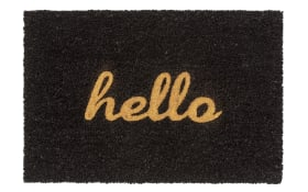 Fußmatte Coco Glitter - Hello mit Glitzereffekt, 40 x 60 cm