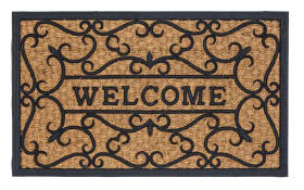 Fußmatte Coco Deluxe Light Relief Welcome, 45 x 75 cm