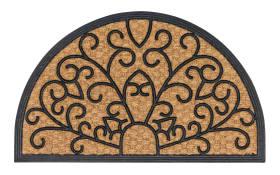Fußmatte Coco Deluxe Light Relief halbrund, 45 x 75 cm