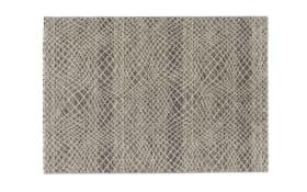 Teppich Capri in silber, 60 x 110 cm