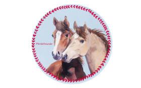 Kinderteppich Pferdefreunde 513, 100 x 100 cm