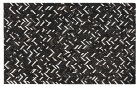 Patchwork Fellteppich in braun, 140 x 200 cm