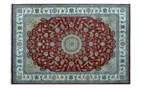 Teppich Nain in mint/rot, 250 x 350 cm