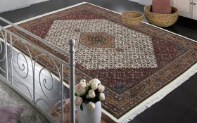 Teppich Bidjar Super in beige, 40 x 60 cm