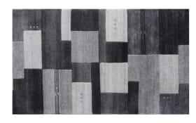 Teppich Nepal Silky in Border grau, 40 x 60 cm