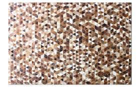 Fellteppich brown & white in 140 x 200 cm
