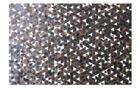 Fellteppich Ranch in schwarz/braun, 90 x 160 cm