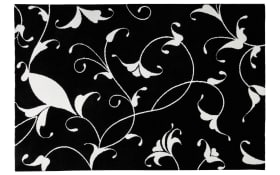 Designteppich my Black & White 390 in schwarz, 80 x 150 cm