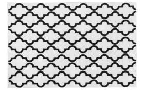 Designteppich my Black & White 391 in weiß, 80 x 150 cm