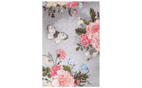 Designteppich my Venezia in silber, 80 x 150 cm