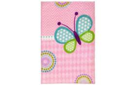 Kinderteppich my Lollipop - Butterfly in rosa, 90 x 130 cm
