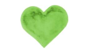 Hochflorteppich Heart 1225 in grün, 60 x 70 cm