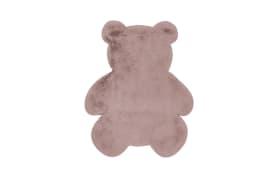 Hochflorteppich Teddy in rosa, ca. 73 x 90 cm