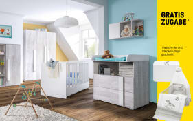 Babyzimmer Scandi in weiß/Nordic-Pine-Optik