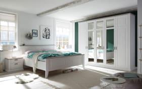 Schlafzimmer Lima in weiß/taupe