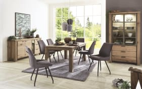 Stuhlgruppe Scott/Canova aus Eiche Railway brown