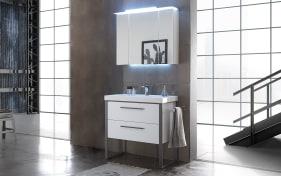 Badeinrichtung Solitaire 9025 in weiß matt