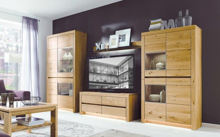 wohnwand soleo 3000 europ ische wildeiche. Black Bedroom Furniture Sets. Home Design Ideas