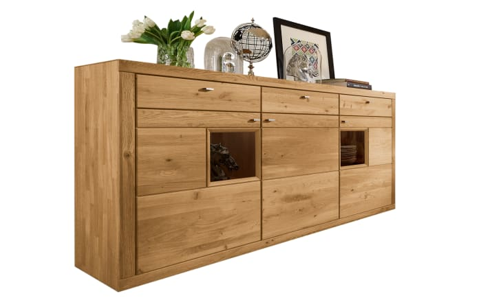Highboard Aurum in Wildeiche massiv soft gebürstet