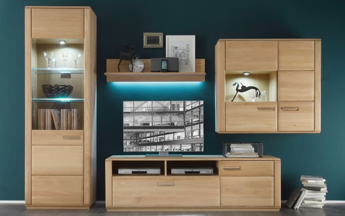 wohnwand sena in eiche bianco online bei hardeck kaufen. Black Bedroom Furniture Sets. Home Design Ideas